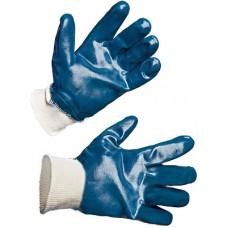 Перчатки нитриловые полное покрытие (резиновый манжет)