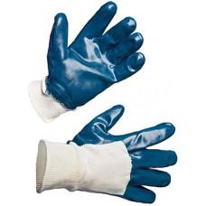 Перчатки нитриловые частичное покрытие (трикотажный манжет)