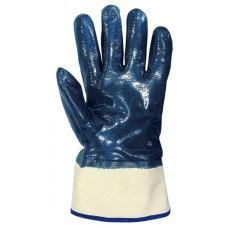 Перчатки с полным нитриловым покрытием (х/б основа) манжет-крага. Особо устойчивы к истиранию