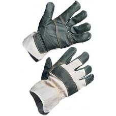 Перчатки комбинированные кожаные утепл.иск.мех